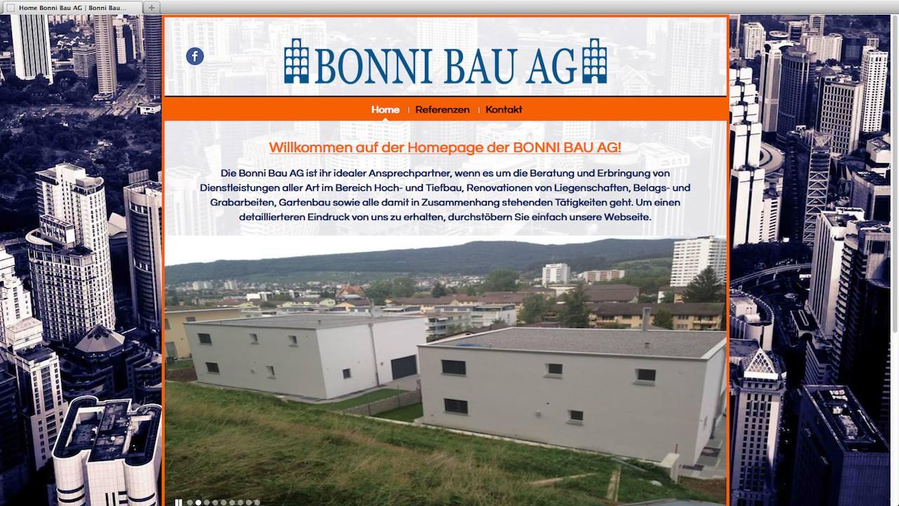 Webdesign für die Bonni Bau AG
