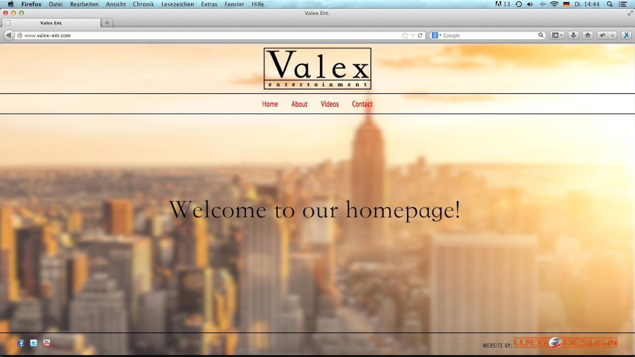 Valex Ent. Webseite