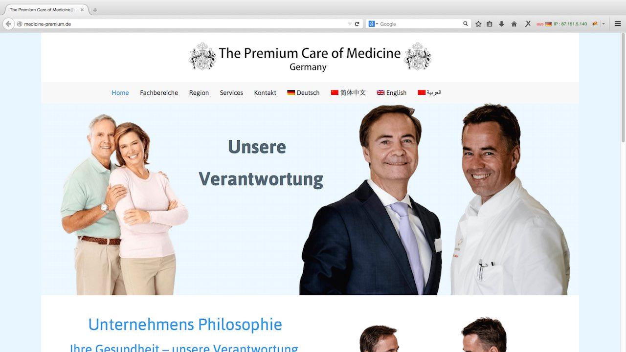 Webdesign Siegen Referenz Medicine Premium