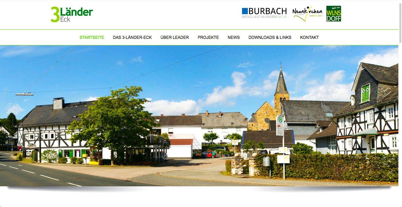 Leader Region 3 Ländereck e.V. Webseite - realisiert von Webdesign Siegen