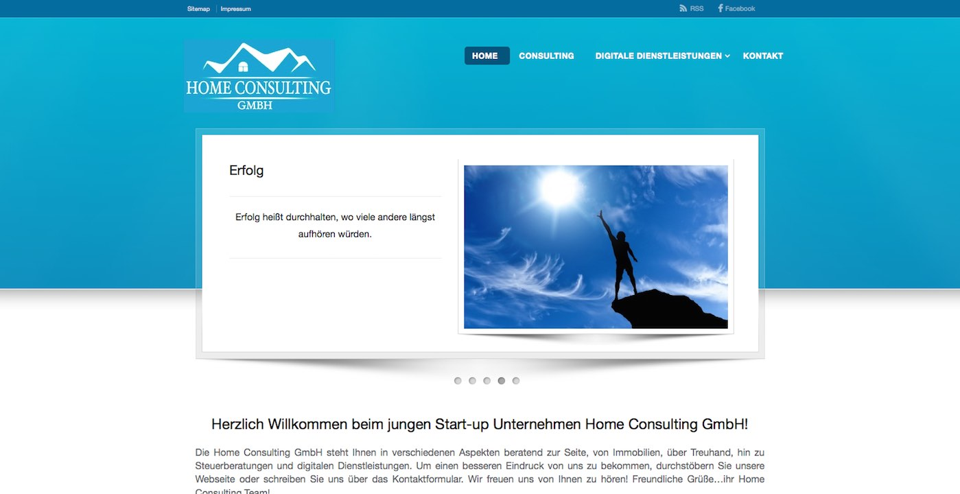 Webdesign Siegen Referenz Homeconsulting Webseite