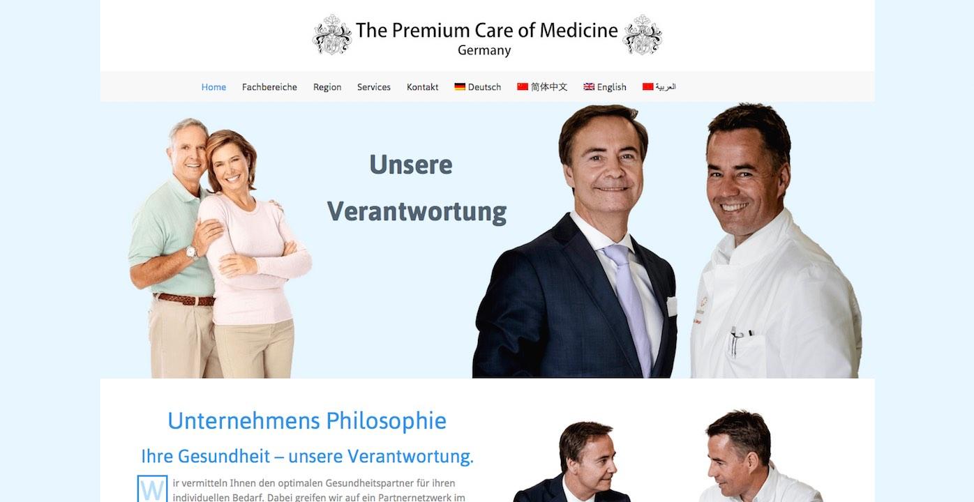 Webdesign Siegen Referenz Medicine Premium Webseite