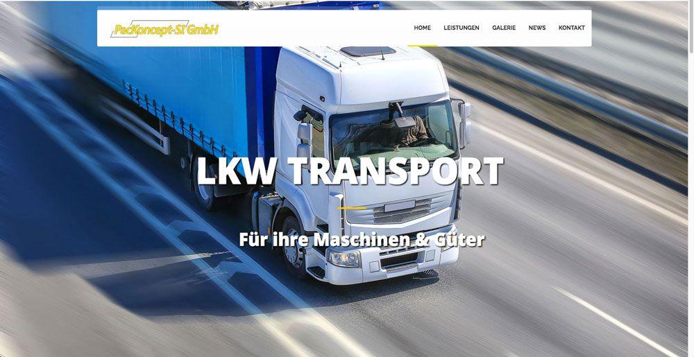 Packoncept-SI Webseite - gestaltet von Webdesign Siegen